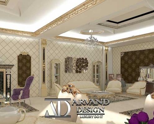 پروژه آقای جعفری لک - زاویه دیگری از سالن پذیرایی- arvanddesign.com