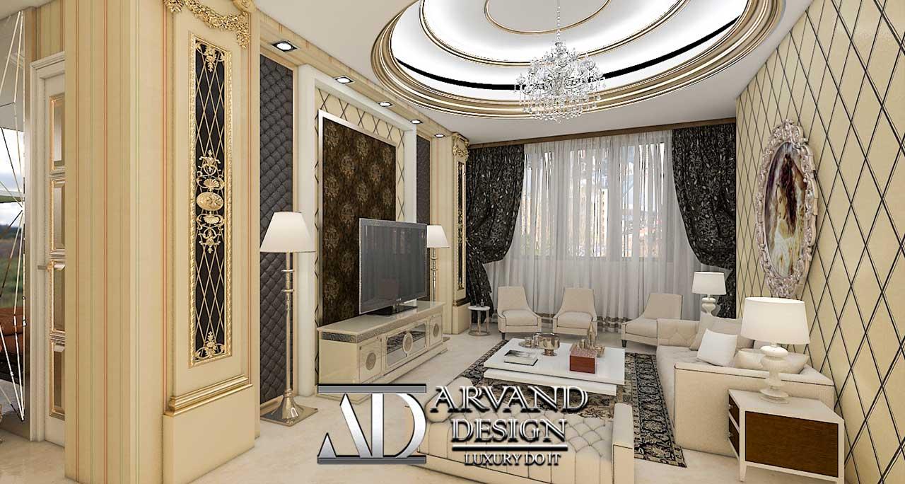 پروژه آقای جعفریلک بخش سالن نشیمن - arvanddesign.com
