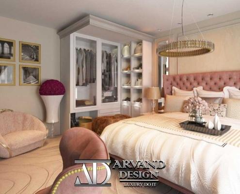 زاویه دیگر از اتاق خواب ستارزاده که کمد دیواری آن به خوبی مشخص میباشد