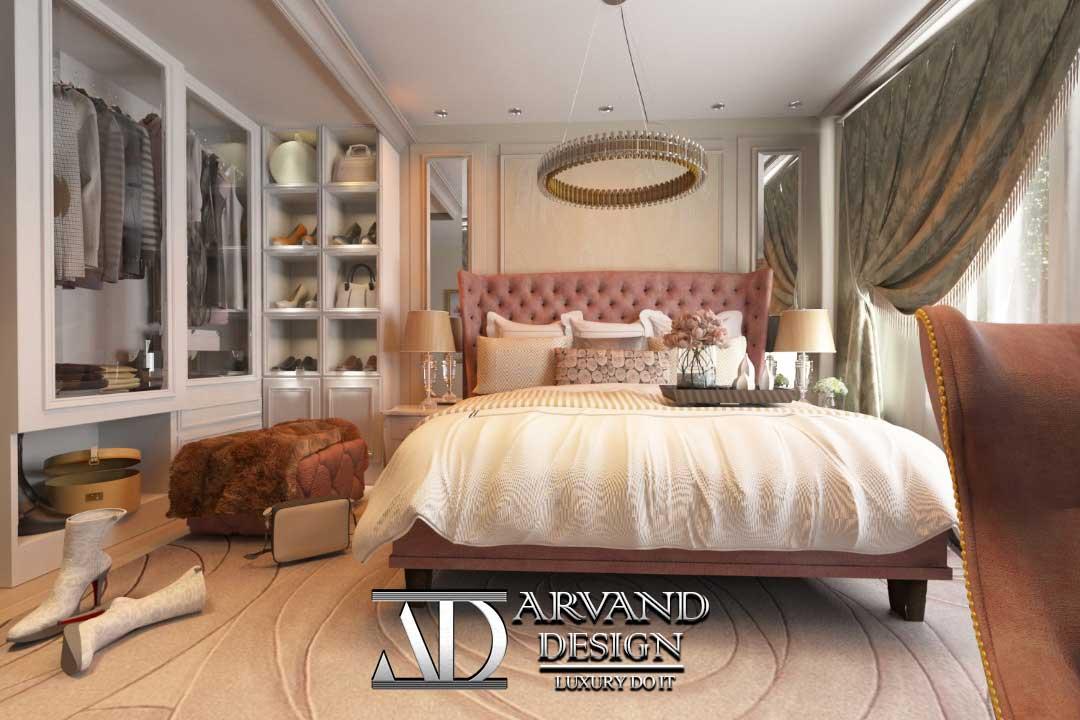 تصویر اتاق خواب به سبک مدرن