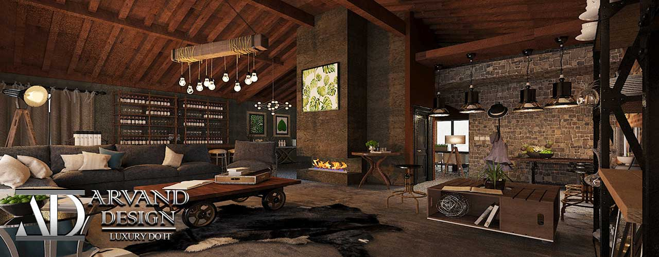 ویلای دلنشین و گرم با دکوراسیون داخلی زیبا و مدرن طراحی آروند دیزاین