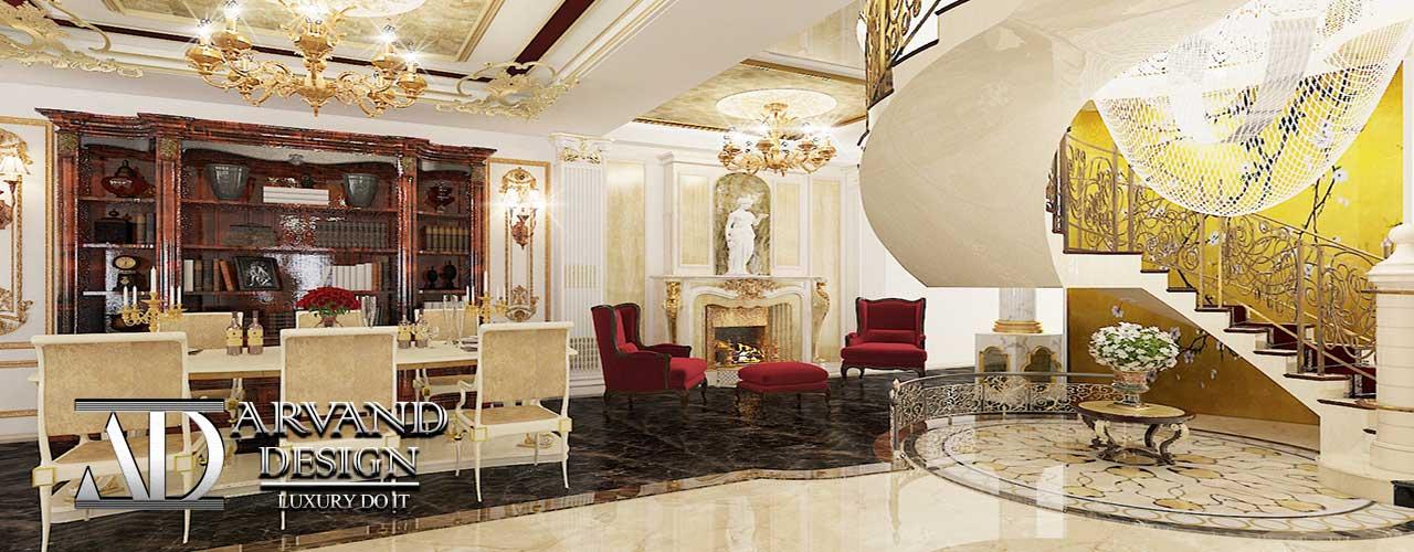 خانه بسیار زیبا و لاکچری با دکوراسیون داخلی کلاسیک طراحی شده توسط شرکت آروند دیزاین