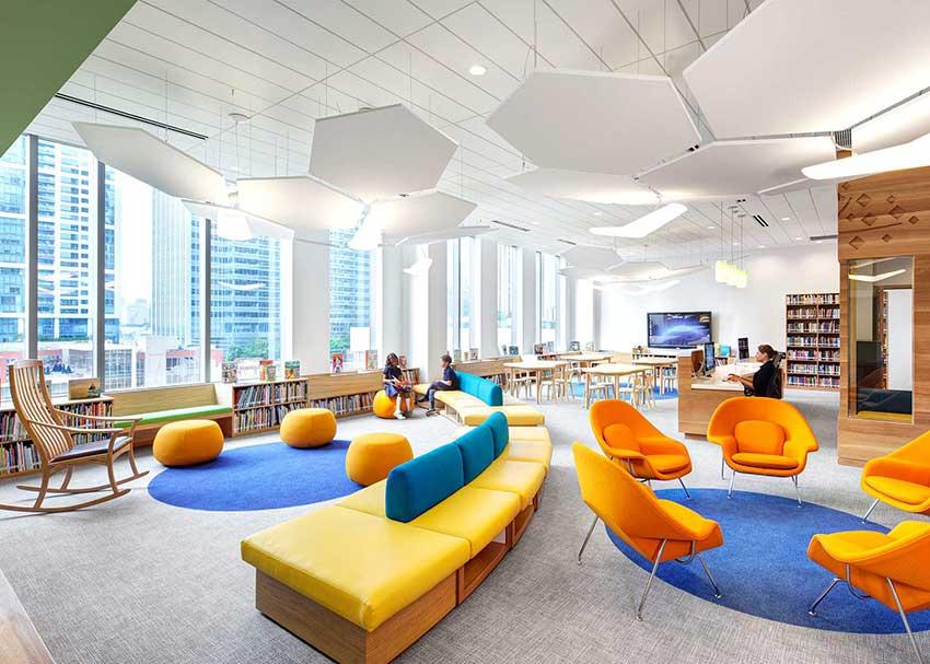 طراحی و دکوراسیون داخلی یک کتابخانه