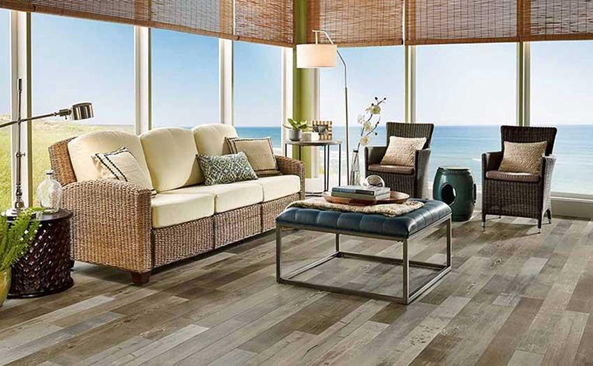نمونه ای از طراحی داخلی به سبک ساحلی